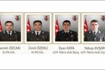 Son dakika: Şehit askerlerin isimleri belli oldu