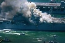 ABD savaş gemisinde yangın! Çok sayıda yaralı var