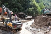 Giresun'da köy yolları açıldı