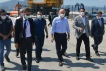 Bakan Giresun Limanı'nda incelemelerde bulundu