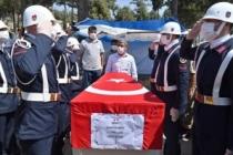 Giresun'daki selde şehit olan Uzman Çavuş'a son görev