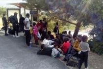 Kamyon kasasında 58 sığınmacı yakalandı