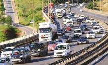 Tatilciler dönüş yolunda, Trafik yoğunluğu yaşanıyor