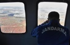 Kural ihlali yapan sürücüler helikopterle tespit edildi