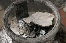 Yangına müdahale sırasında patladı!