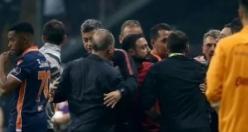 Galatasaray - Başakşehir maçındaki kavgadan yeni görüntüler! Küfür, tehdit, saldırı...