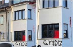 Terör örgütü yandaşlarından İsviçre Türk Toplumu Başkanı Şeref Yıldız'ın evine saldırı