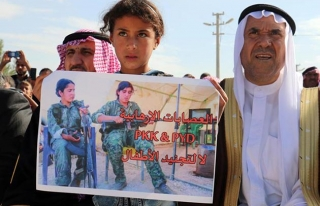 Haseke'de YPG/PKK protesto edildi