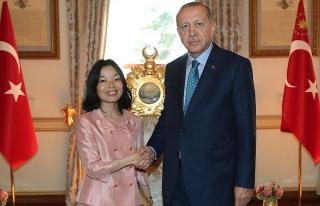 Erdoğan Japonya Prensesini kabul etti