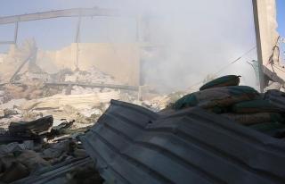 İdlib'de sivil savunmacılara saldırı anı...