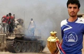 Orduya katılan futbolcu çatışmada öldü
