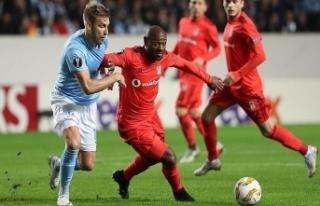 Beşiktaş Malmö'ye boyun eğdi