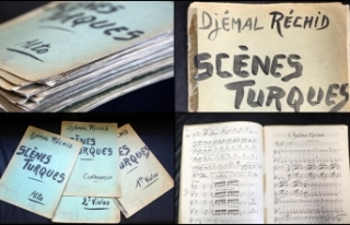 Cemal Reşit Rey'in el yazısı notaları gün...