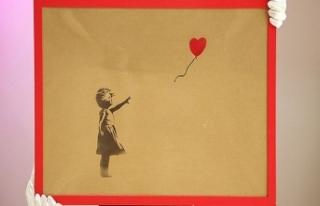 Milyonluk Banksy tablosunu kesti