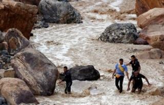 Ürdün'de sel felaketi: Ölü ve yaralılar...