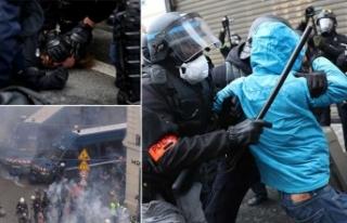 Son dakika! Paris'te hayat durdu, gözaltı sayısı...