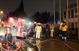 Eyüpsultan'da fabrika yangını