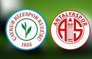 Çaykur Rizespor Antalyaspor canlı izle - Çaykur...