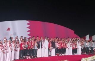Katar Milli Takımı Şeyh Temim tarafından karşılandı