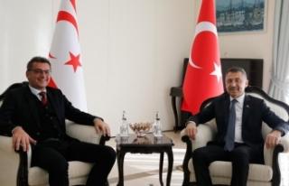 Oktay, KKTC Başbakanı Erhürman ile görüştü
