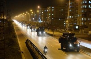 Suriye sınırına sevk edilen komandolar Kilis'e...
