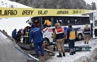Yolcu midibüsü TIR'a çarptı: 20 yaralı