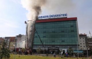 Avrasya Üniversitesi'nde yangın