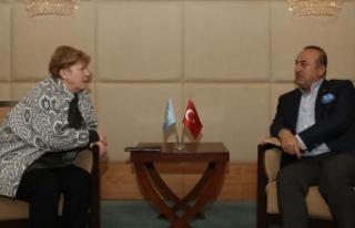 Bakan Çavuşoğlu ile BM Temsilcisi Lute bir araya...