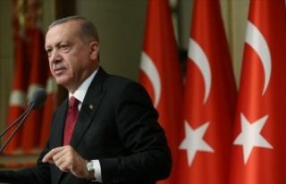 Cumhurbaşkanı Erdoğan'dan Halepçe mesajı