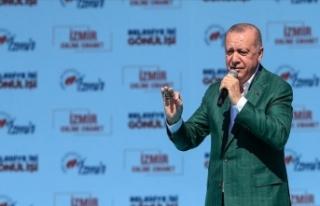Cumhurbaşkanı Erdoğan: Adaylık icazetini İzmir'den...