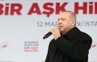 Cumhurbaşkanı Erdoğan: Millete diz çöktürtemeyecekler