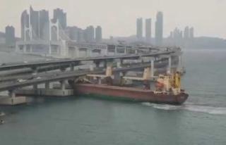 Durdurulamayan Rus gemisi köprüye çarptı