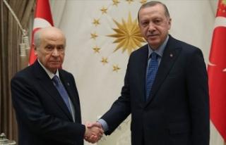 Beştepe'deki Erdoğan-Bahçeli görüşmesi...