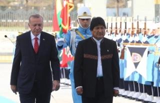 Bolivya Devlet Başkanı Morales Ankara'da