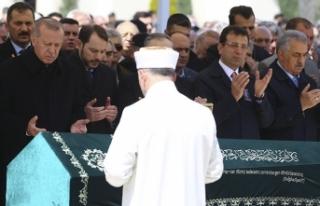 Cumhurbaşkanı Erdoğan ile İmamoğlu cenazede buluştu