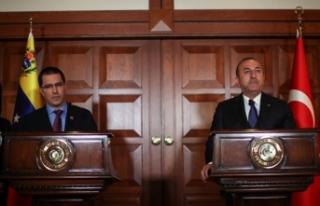 Dışişleri Bakanı Çavuşoğlu'ndan 'Venezuela'...