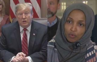 İlhan Omar'ı hedef gösteren Trump'a tepki...