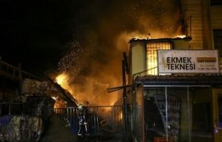 Mobilya sanayi merkezinde korkutan yangın