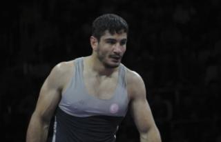 Taha Akgül, Avrupa Güreş Şampiyonası'nda...