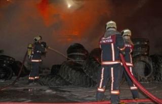 Başkentte organize sanayi bölgesinde yangın