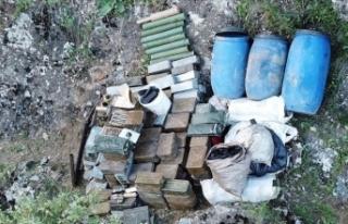 Hakkari'de PKK'ya ait mühimmat deposu bulundu
