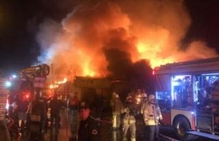 İstanbul'da palet fabrikasında yangın