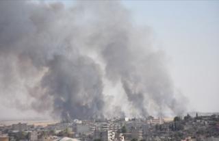Suriye'de çıkan yangın Türkiye'yi endişelendiriyor