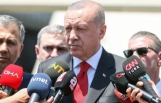 Cuma namazı çıkışı Erdoğan'dan vatandaşa...