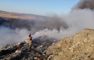 İzmir'de atık depolama tesisinde yangın