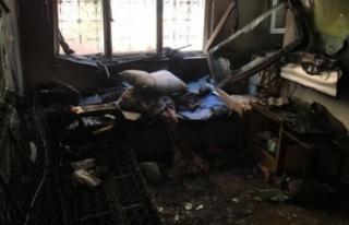 Kolonya döküp evini ateşe verdi! Çıkan yangında...
