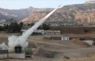 Pençe-2 Operasyonu'nda PKK hedefleri ateş altına...