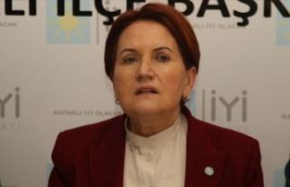 İYİ Parti Genel Başkanı Akşener 'Ekonomik...