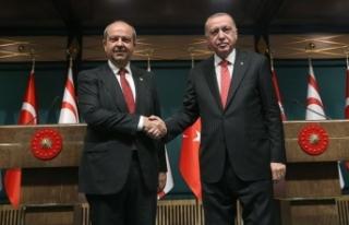 Cumhurbaşkanı Erdoğan, KKTC Başbakanı Tatar ile...