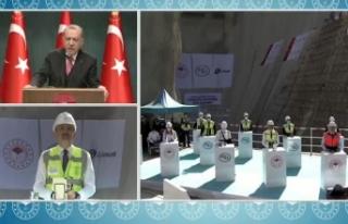 Tarihi törende Cumhurbaşkanı Erdoğan'dan...